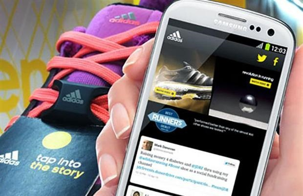 Adidas puts NFC sensors in products to create 'a billion