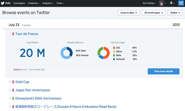 Twitter debuts event targeting for brands