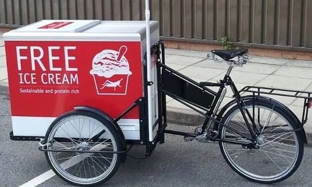 Economist dishes out free insect ice cream in marketing stunt