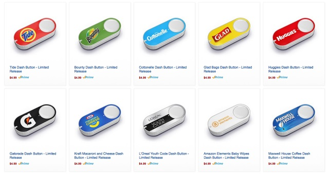 Amazon 'Dash' buttons go on sale for $5
