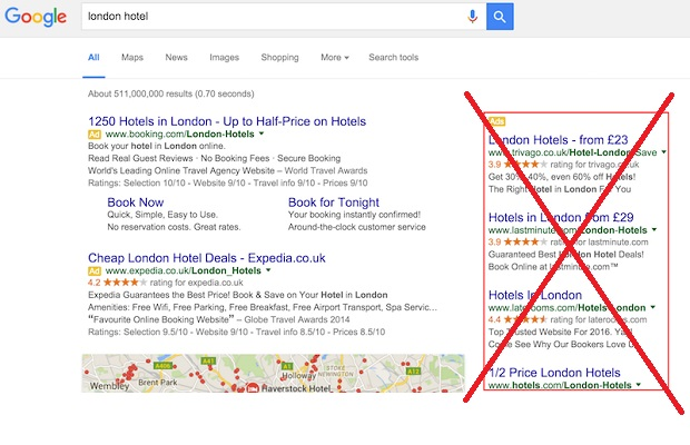google axes all search ads on right hand side netimperative