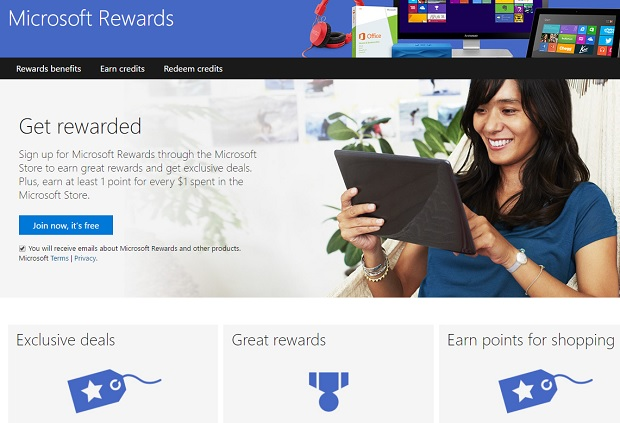 Microsoft rewards Edge browser users with gift cards