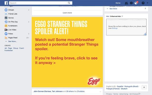 Eggo creates Stranger Things 'spoiler blocker' Chrome extension