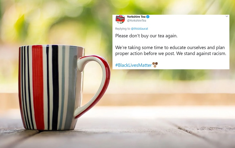 """Please don't buy our tea"": How one brand sparked a Twitter storm over BLM support"