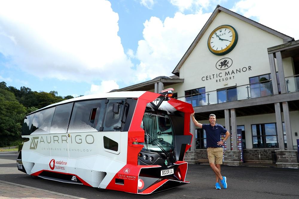 Vodafone develops driverless golf vehicles for Wales Open