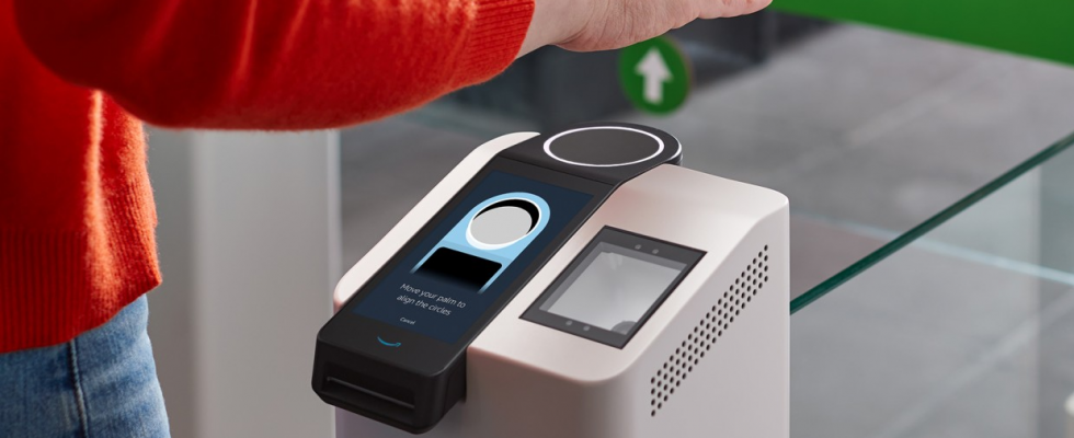 Pay by hand: Amazon launches in-store palm scanner for payments