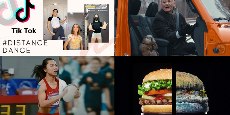 Top 20 video ads of 2020: TikTok dances, sports mashups and mouldy Whoppers
