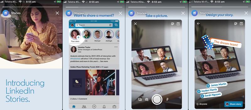 LinkedIn tests ads for Stories format