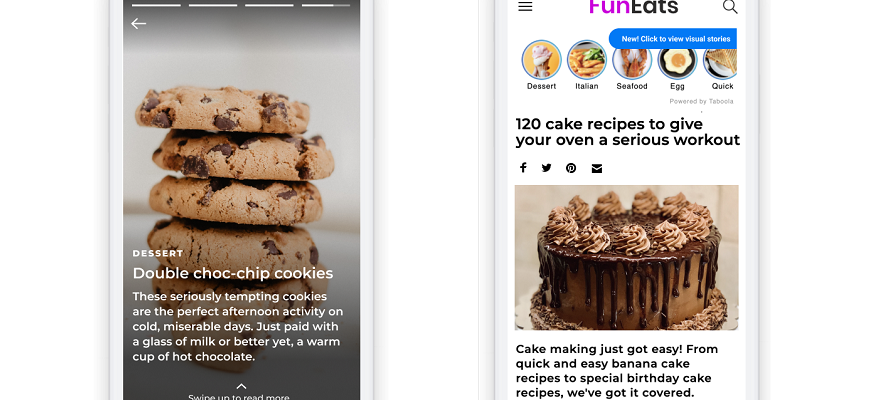 Taboola launches Snapchat-style 'Stories' for content advertisers