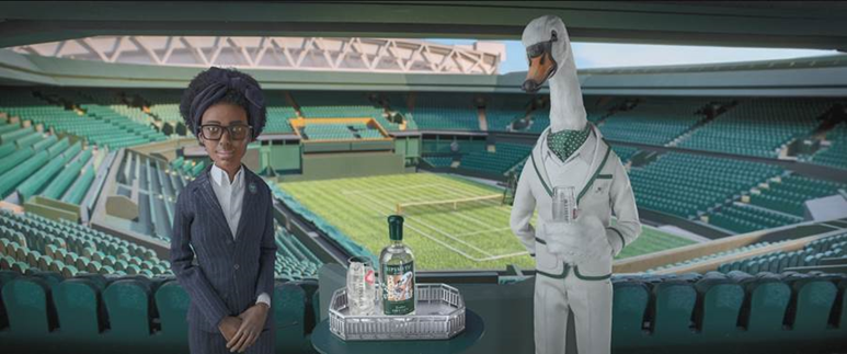 Sipsmith celebrates its first year as the Official Gin Partner of The Championships, Wimbledon with a new piece of creative, where Mr Swan makes his Centre Court debut.